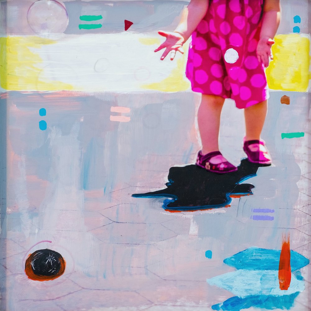 #28 BUBBLES oil, acrylic and uv ink on fine art photo paper $350