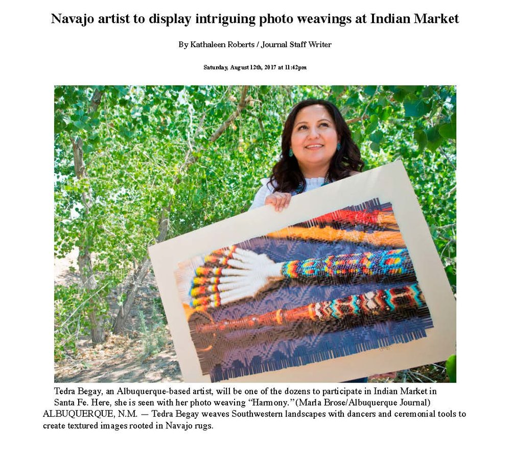 Navajo artist to display intriguing photo weavings at Indian Market | Albuquerque Journal_Page_1.jpg