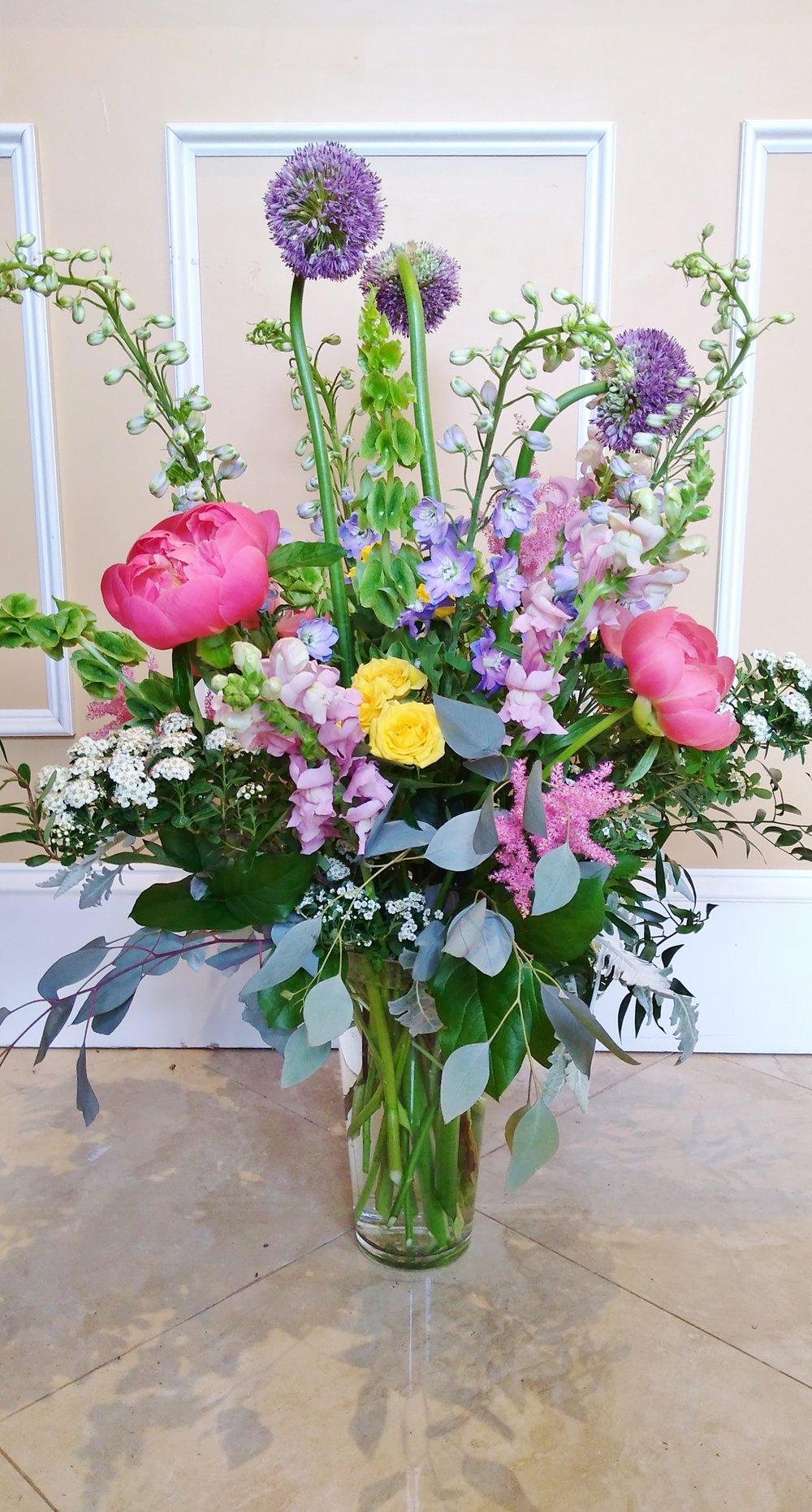B5 $125-$200 Tall, full arrangement. $150 as shown.