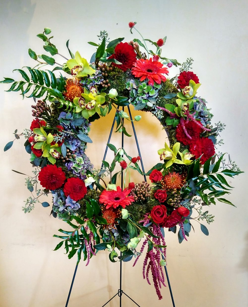 "F19 $225 24"" Wreath."