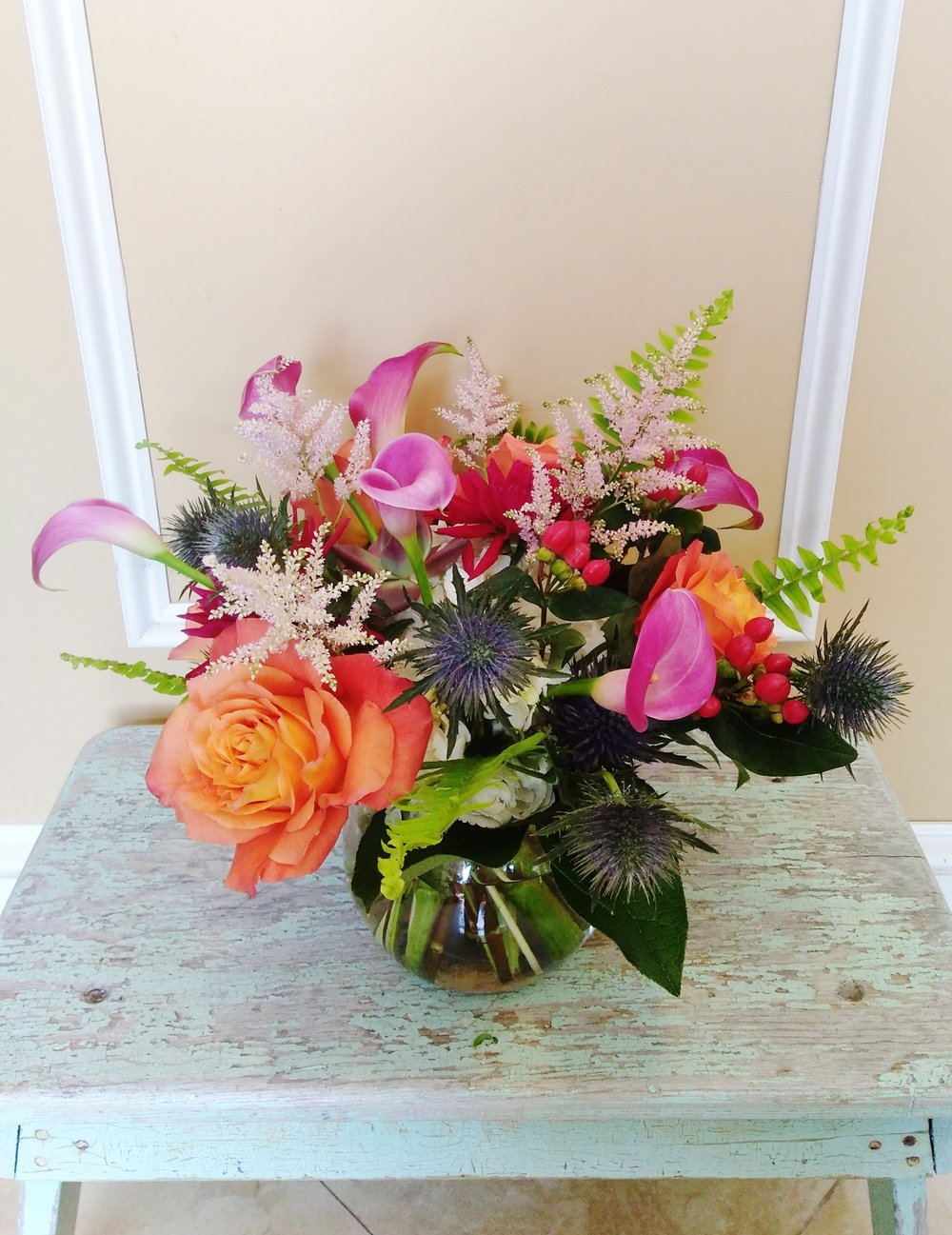 A5 $60-$85 Cluster-style arrangement. $75 as shown.