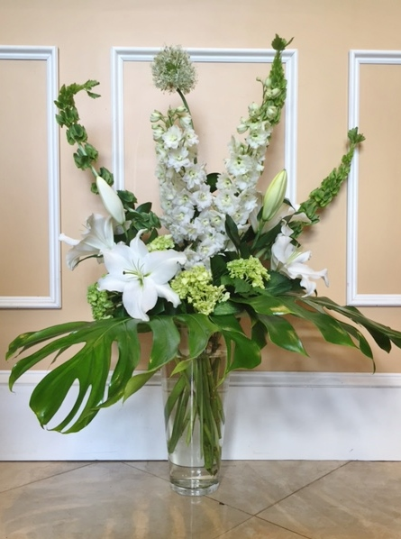 B6 $100 - $200 Tall contempoorary arrangment. $175 as shown.