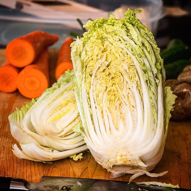 Our Napa Cabbage is always fresh and house made! Come try it with our Garlic, Onion and Red Chili Pepper Kimchi Sauce! 🔥