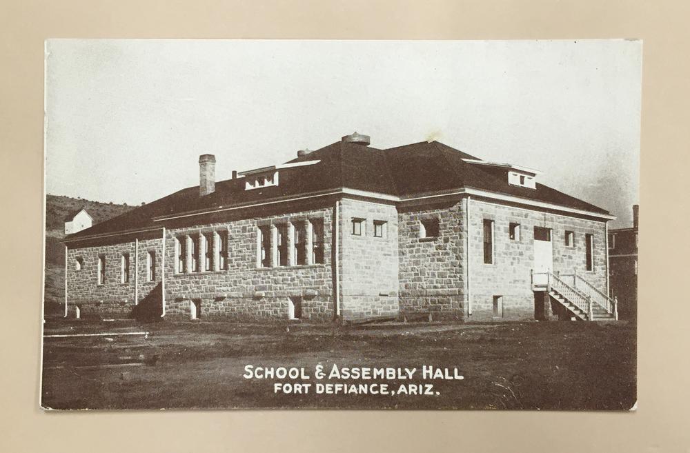 B03:  School & Assembly hall, Fort defiance, Arizona