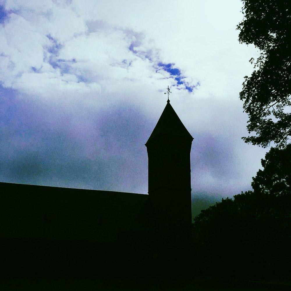 Clock Tower in Clouds