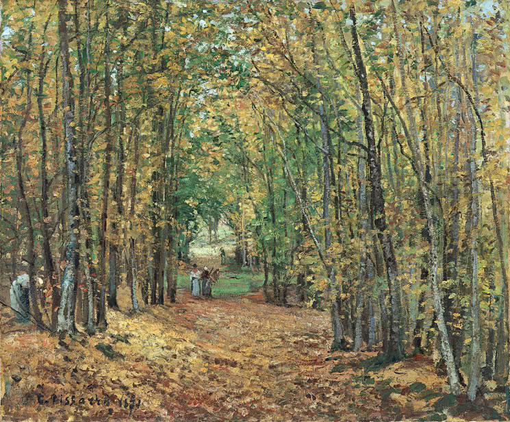 The Woods at Marly, Camille Pissaro