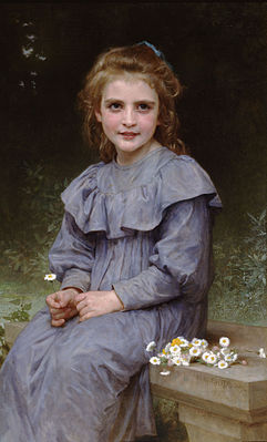 Daisies by William-Adolphe Bouguereau (1894)