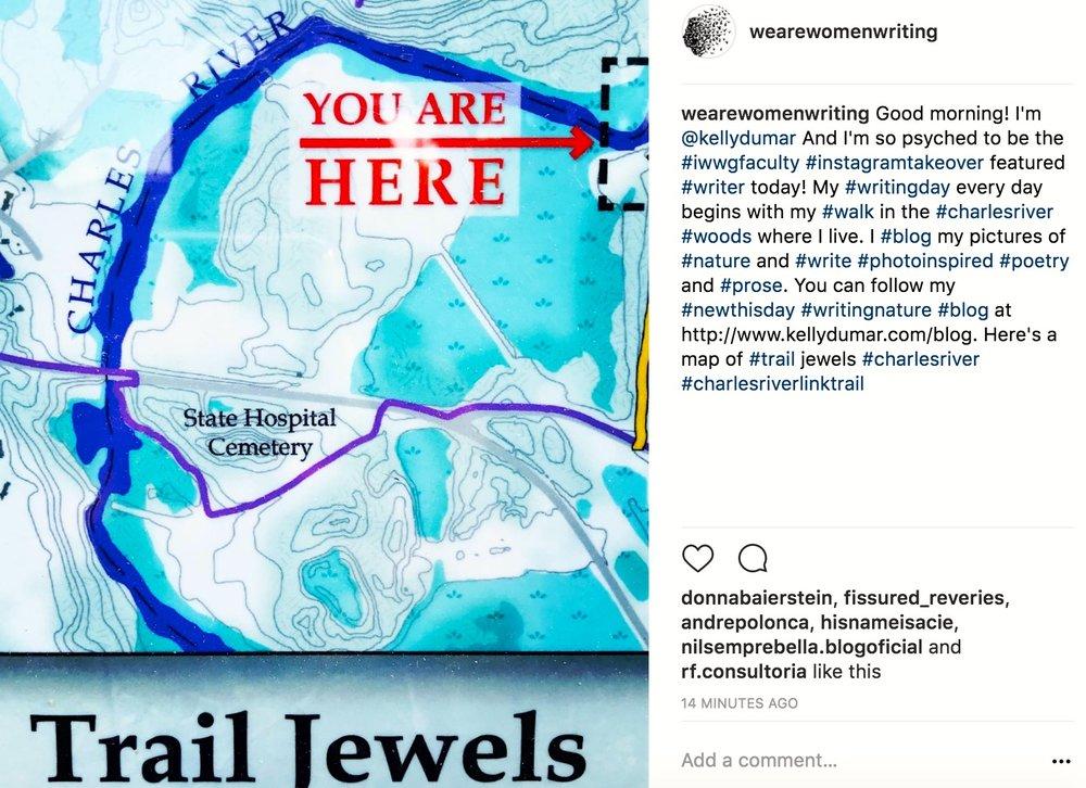 #Instagramtakeover @wearewomenwriting @kellydumar #IWWG