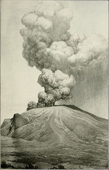 Mount Pelee, May 8, 1902, Wikipedia Photo