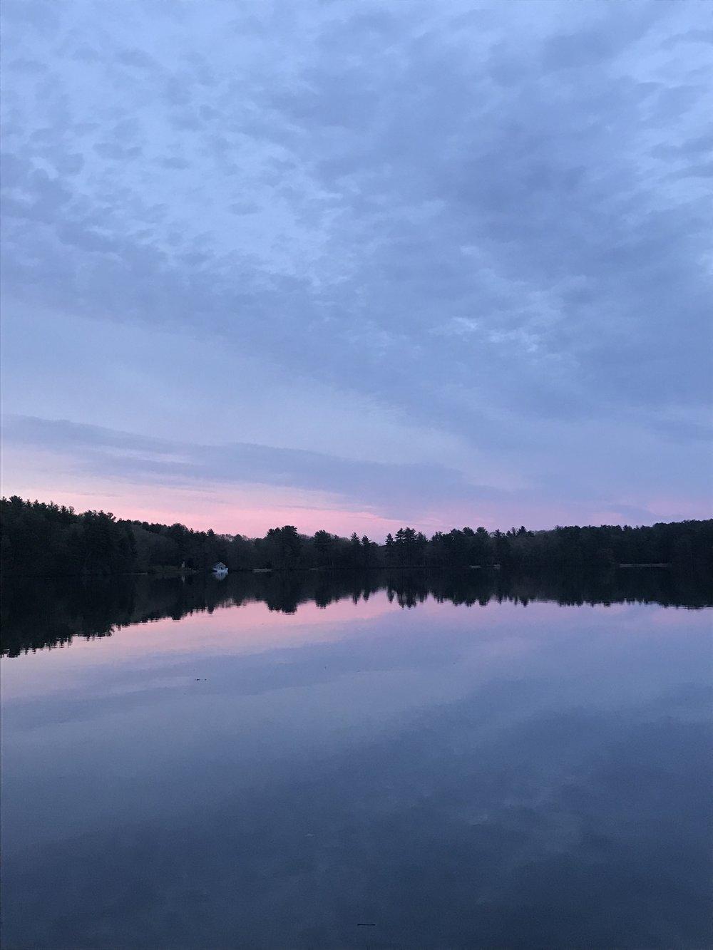 Sunset, Farm Pond