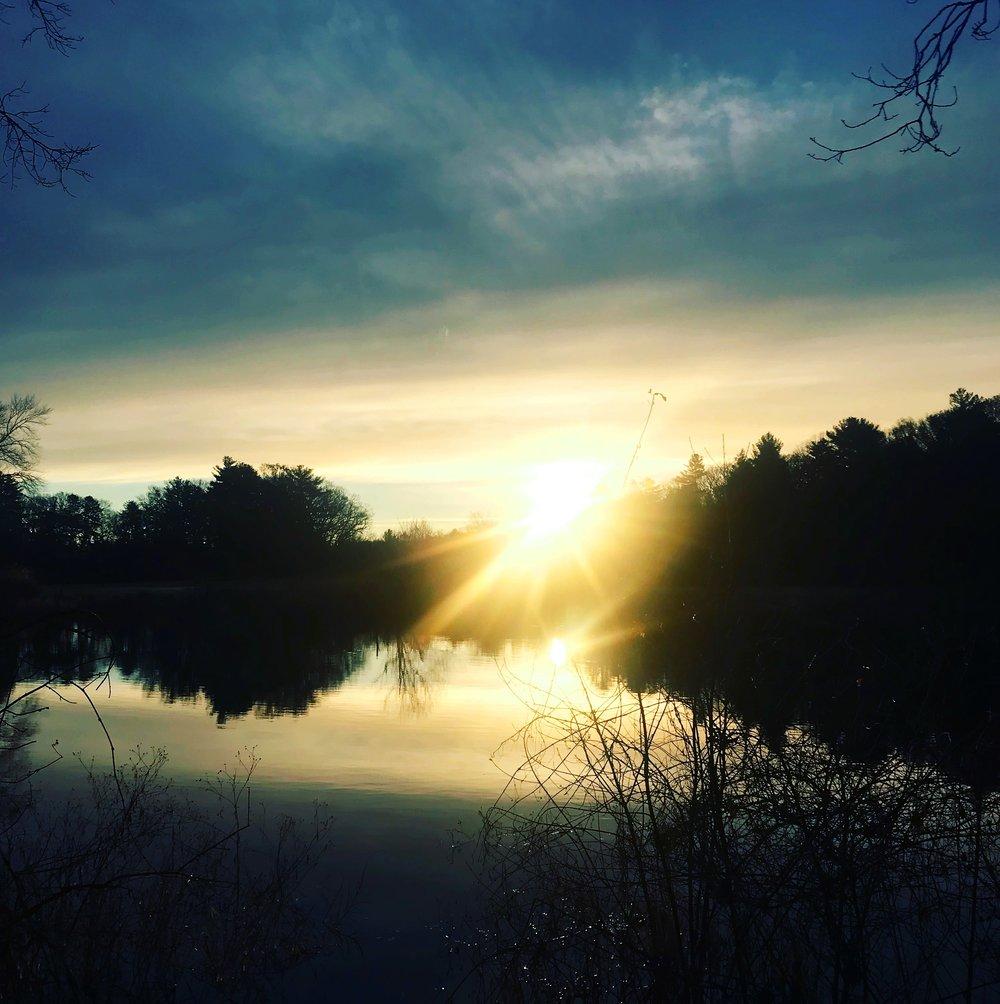 Charles River Sun Rising