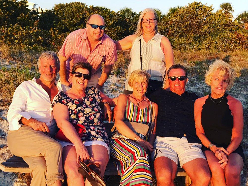 Siblings, husband, sister-in-law, Sunset, Lido Key