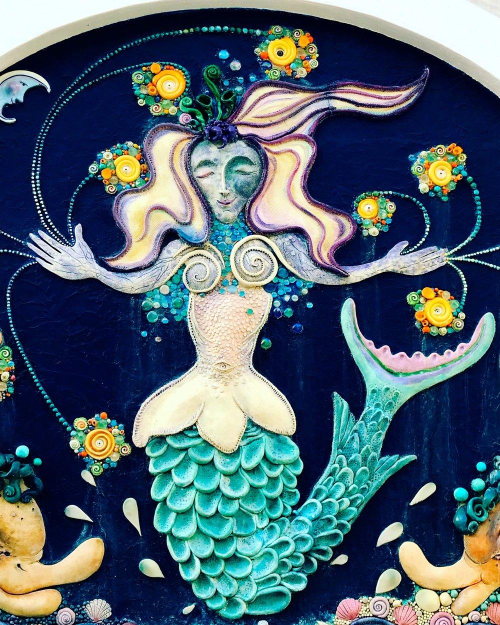 Nancy Goodheart Matthews created the Mermaid Fountain in Sarasota,