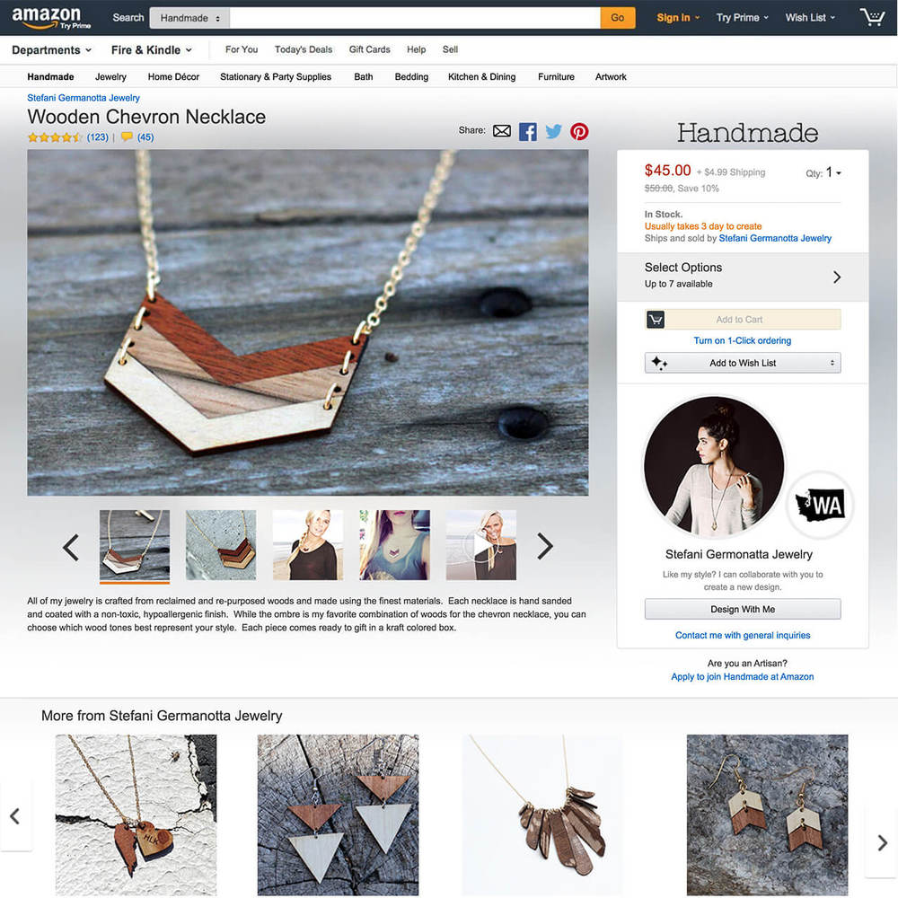 04 // Alternate Handmade product detail page example