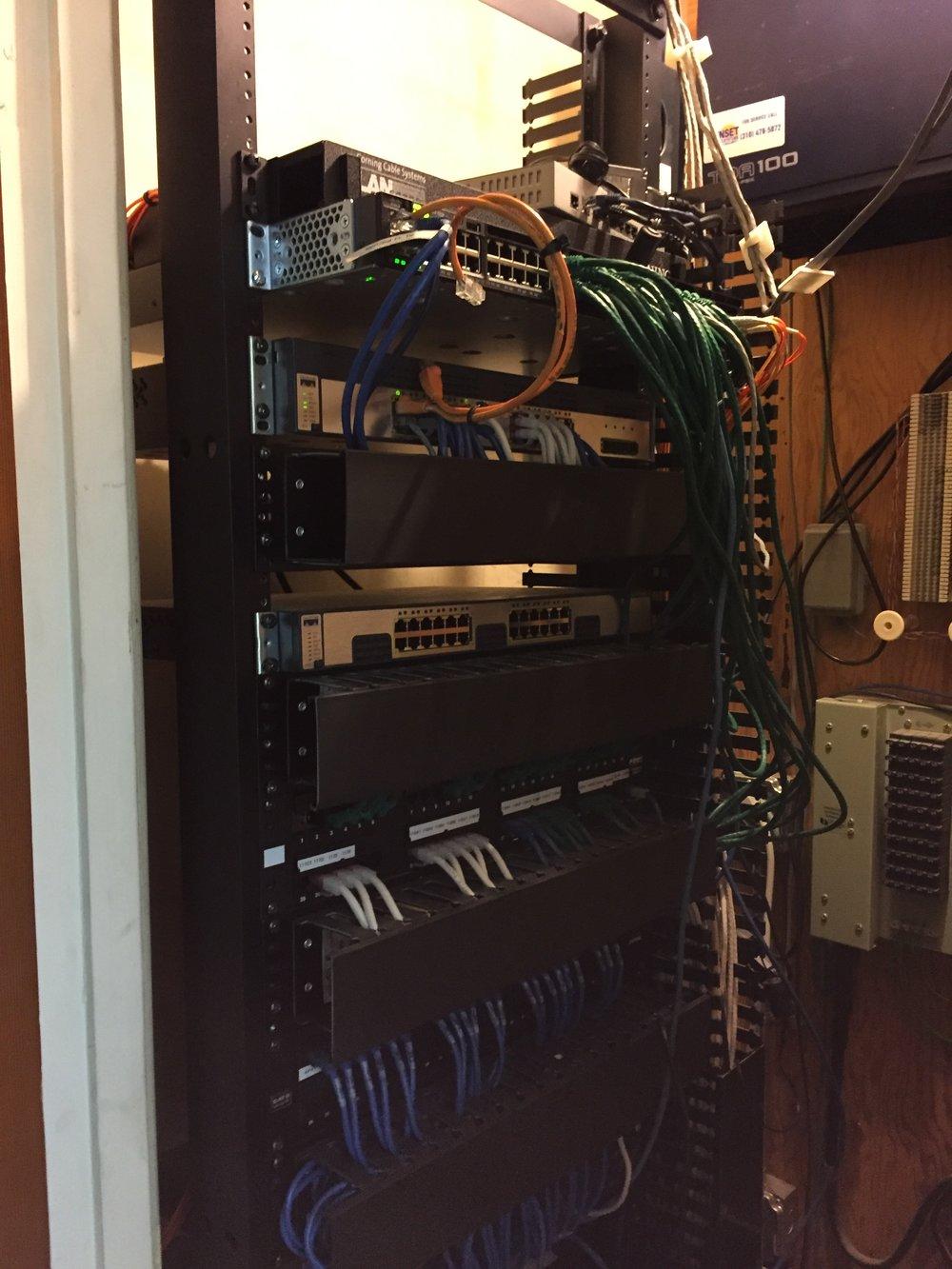 Main wiring closet 4/25/18