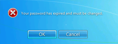 Password expired error