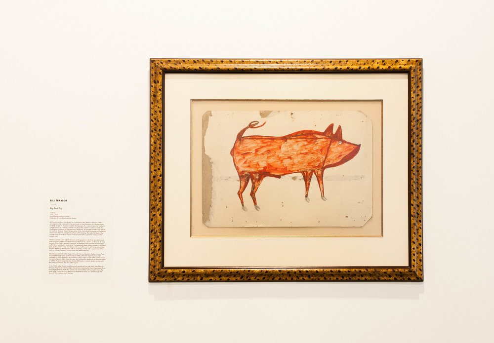 Big Red Pig - Bill Traylor