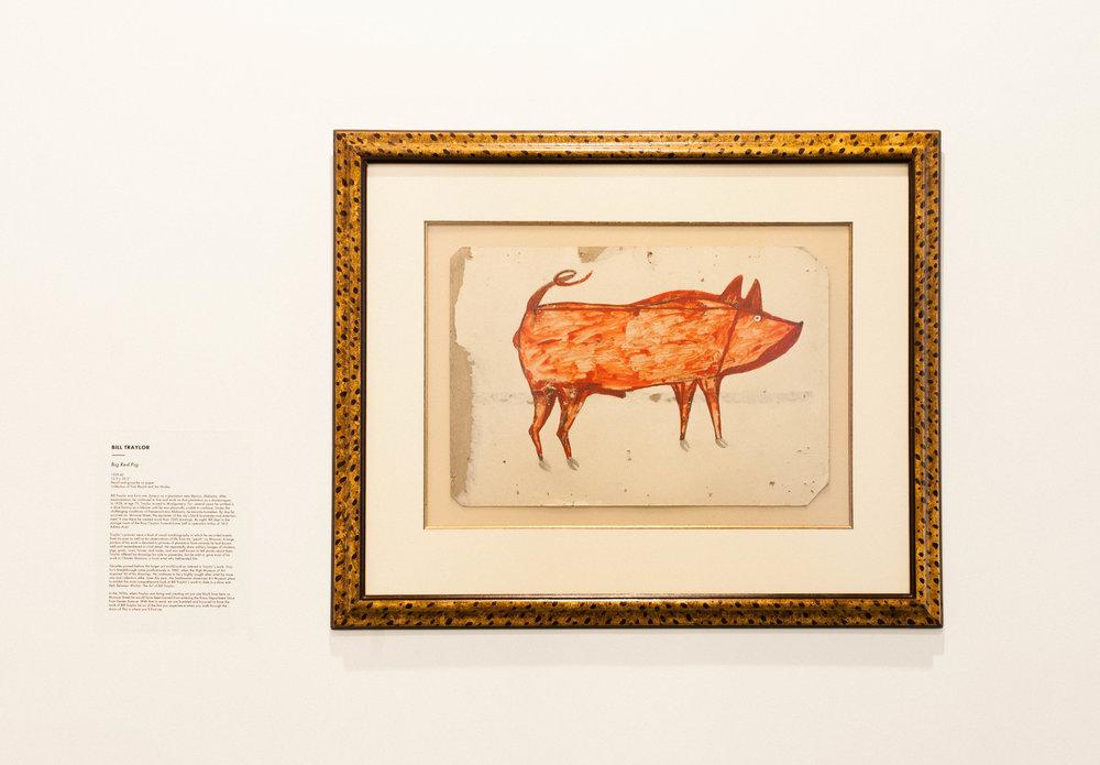 Big Red Pig - Bill Traylor