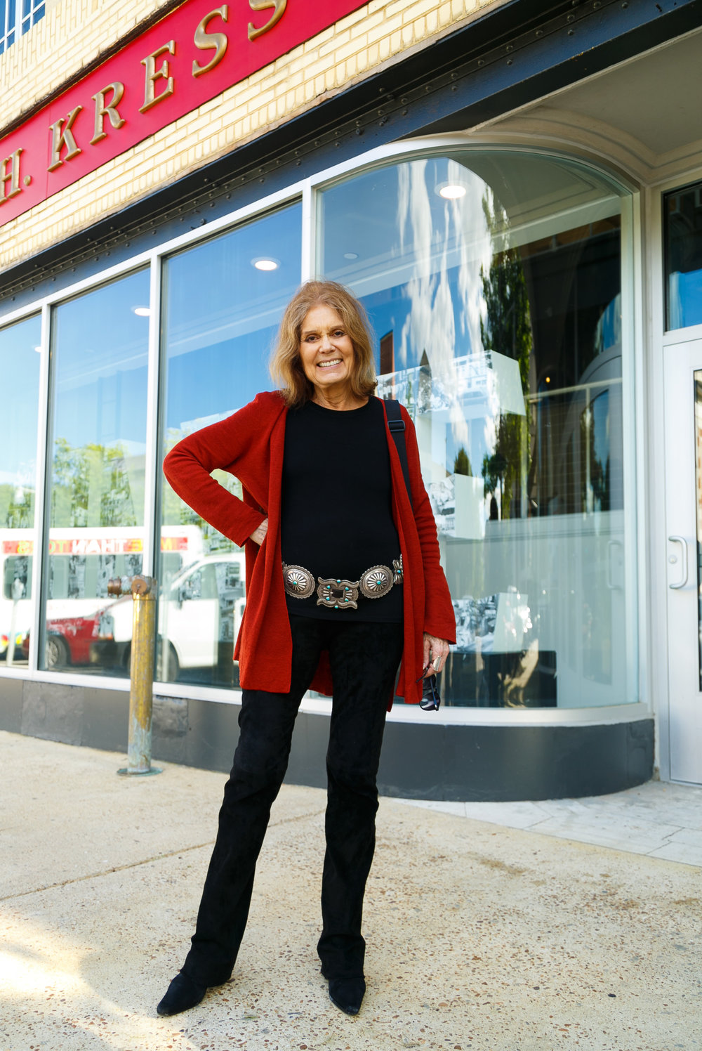 Legend Gloria Steinem tours  This is where you'll find me + STORYBOOTH.