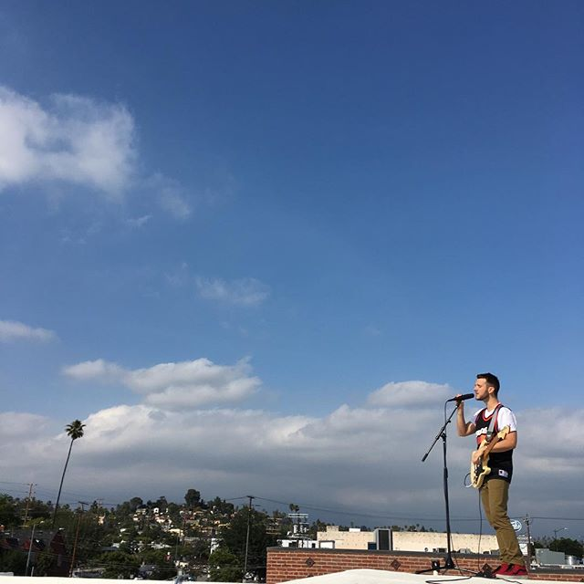 Filming a Rooftop Session with @stimulatorjones today!