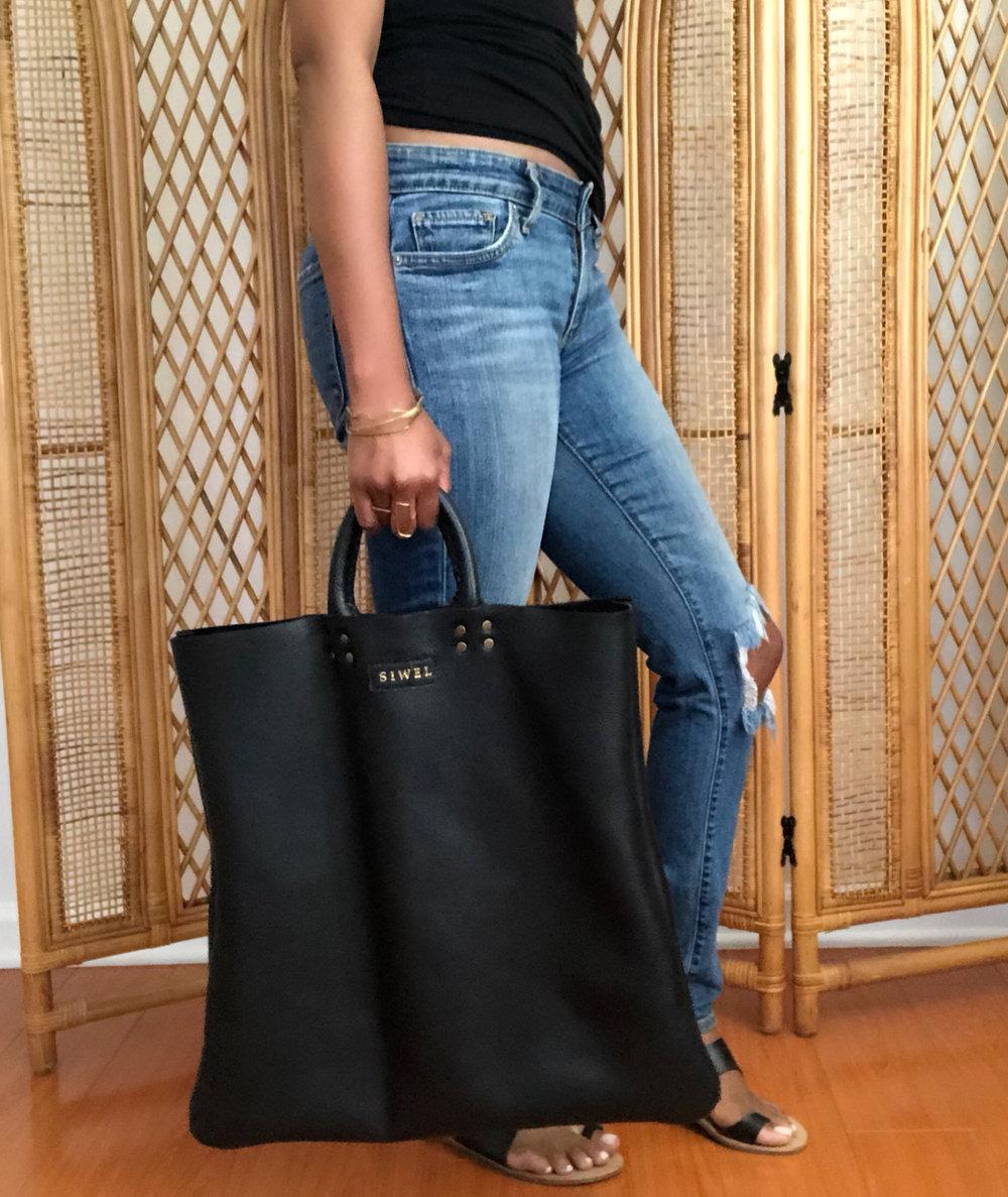 Nuri Lifestyle Tote Black - SIWEL handbags.jpg