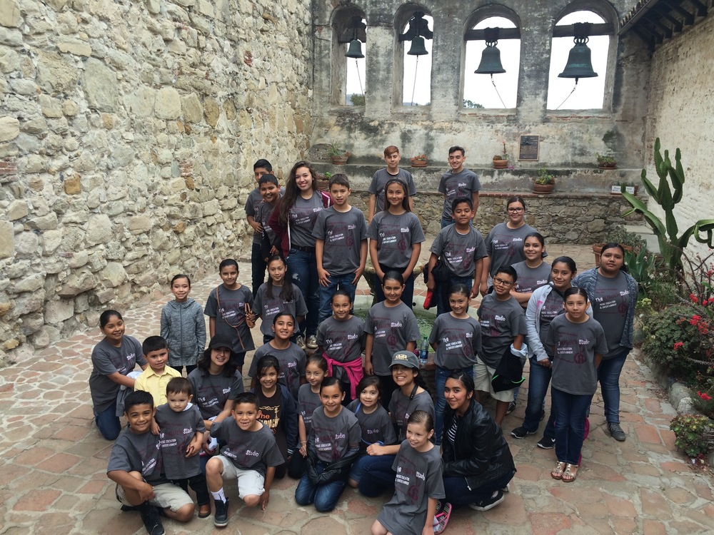 Tier One and Tier Two students at The Battle of the Mariachis competition in San Juan Capistrano Mission, May 2016