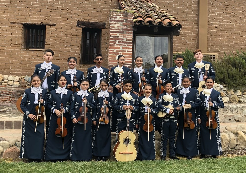 Our tier-two ensemble, Mariachi Embajadores del Valle, under the direction of Xochitl Morales