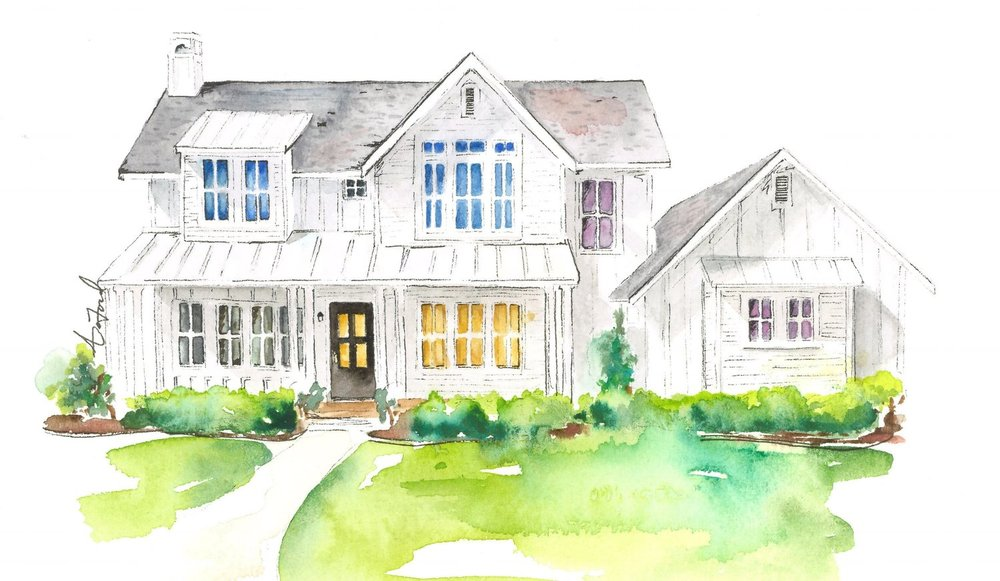 See photos of a completed Modern Farmhouse  HERE . 4 bedrooms. 3.5 baths. 2 car garage. 3350 sq. ft.