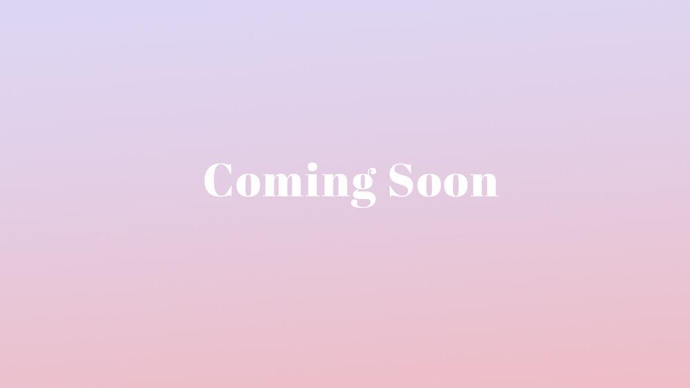 Coming soon - Coming soon