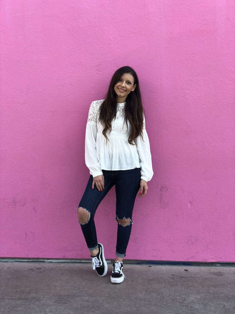 1. Visit the Pink Wall - Take photos at the Paul Smith Pink Wall. This photo is unedited and unfiltered.