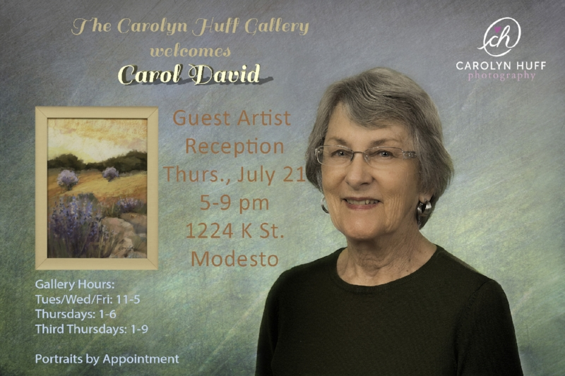 Carol David, Guest Artist at the Carolyn Huff Gallery