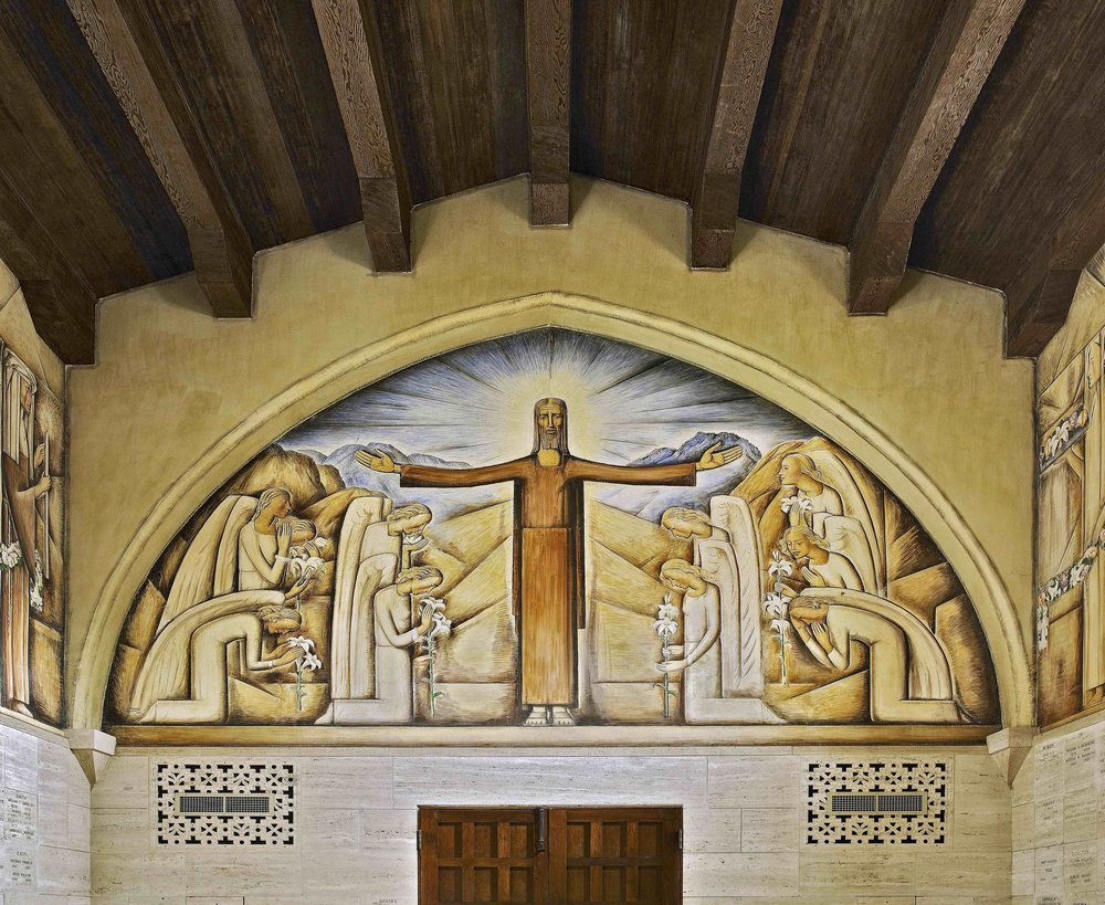 La Capilla del Cementerio de Santa Bábara / The Chapel of the Santa Barbara Cemetery  1934