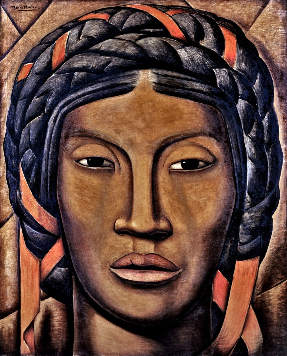 La India de Tehuantepec (Mujer de Tehuantepec) / The Woman from Tehuantepec  ca. 1930 oil on canvas / óleo sobre tela 49.5 x 40 inches / 125.7 x 101.6 centímetros Private collection