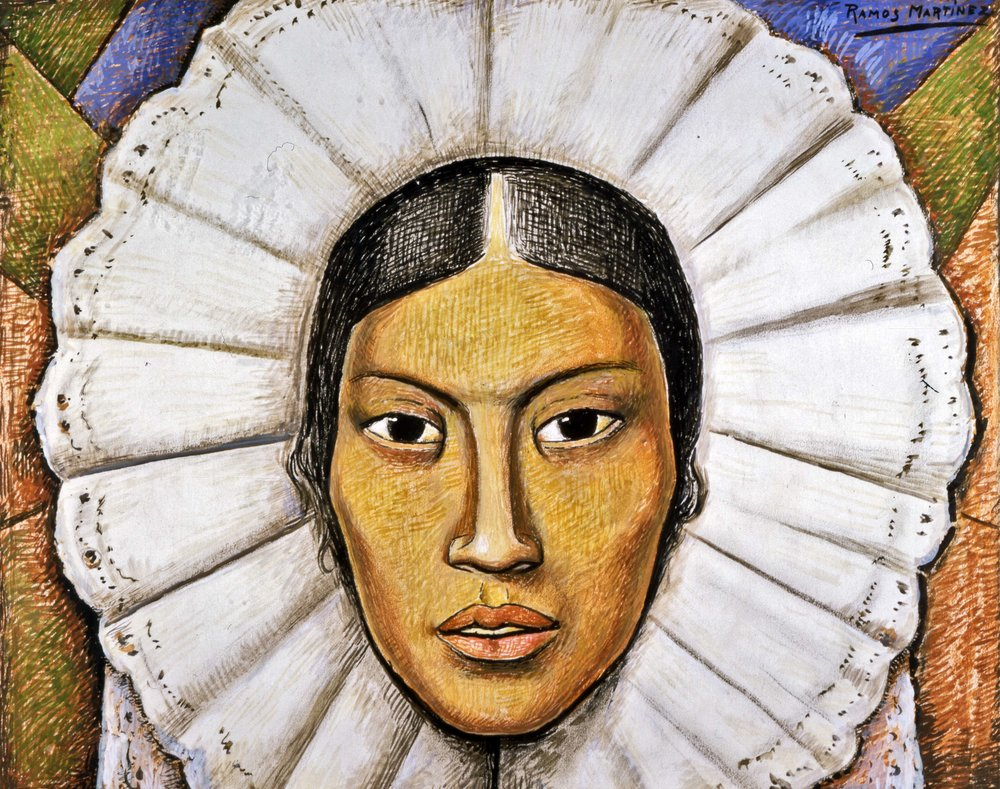 Tehuana / Woman from Tehuantepec  ca. 1930  tempera and gouache on paper / temple y aguada sobre panel 13 x 16.3 inches / 33 x 41.3 centímetros Private collection