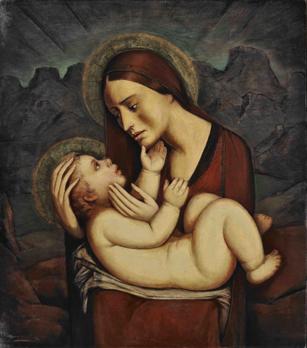 Madonna e Infante / Madonna and Child  ca. 1932 oil on canvas / óleo sobre tela 32 x 28 inches; 81.3 x 71.1 centímetros Private collection