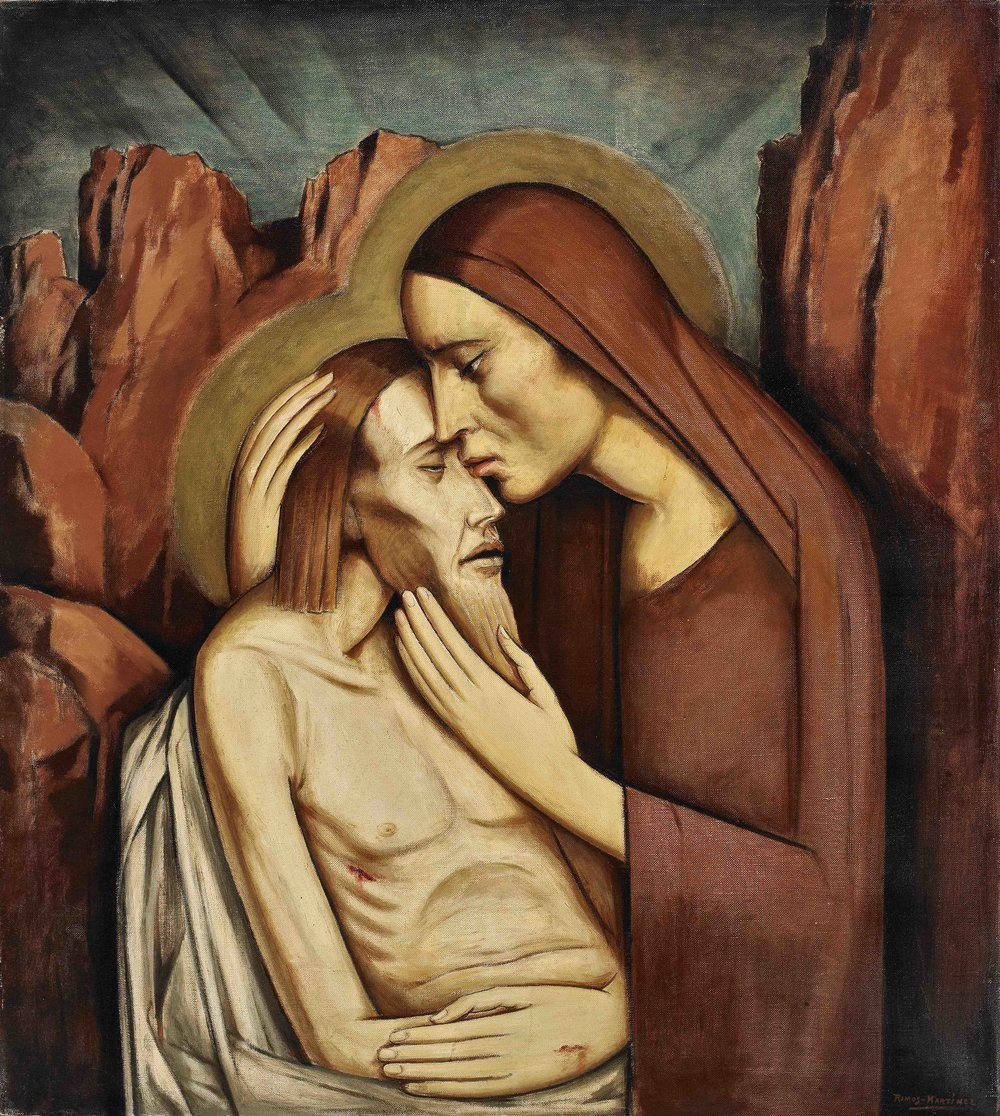 Pietà  ca. 1932 oil on canvas / óleo sobre tela 32 x 28 inches / 81.3 x 71.1 centímetros Private collection