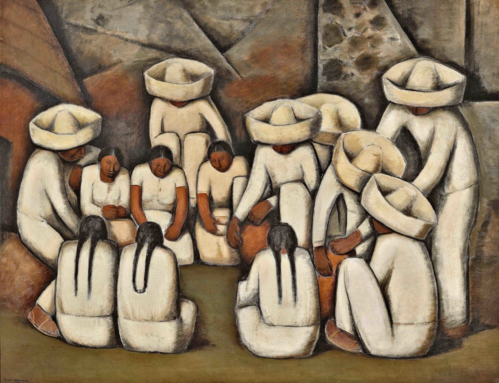 Los Alfareros / The Potters  ca. 1932  oil on canvas / óleo sobre tela 34 x 44 inches; 86.4 x 111.8 centímetros Private collection