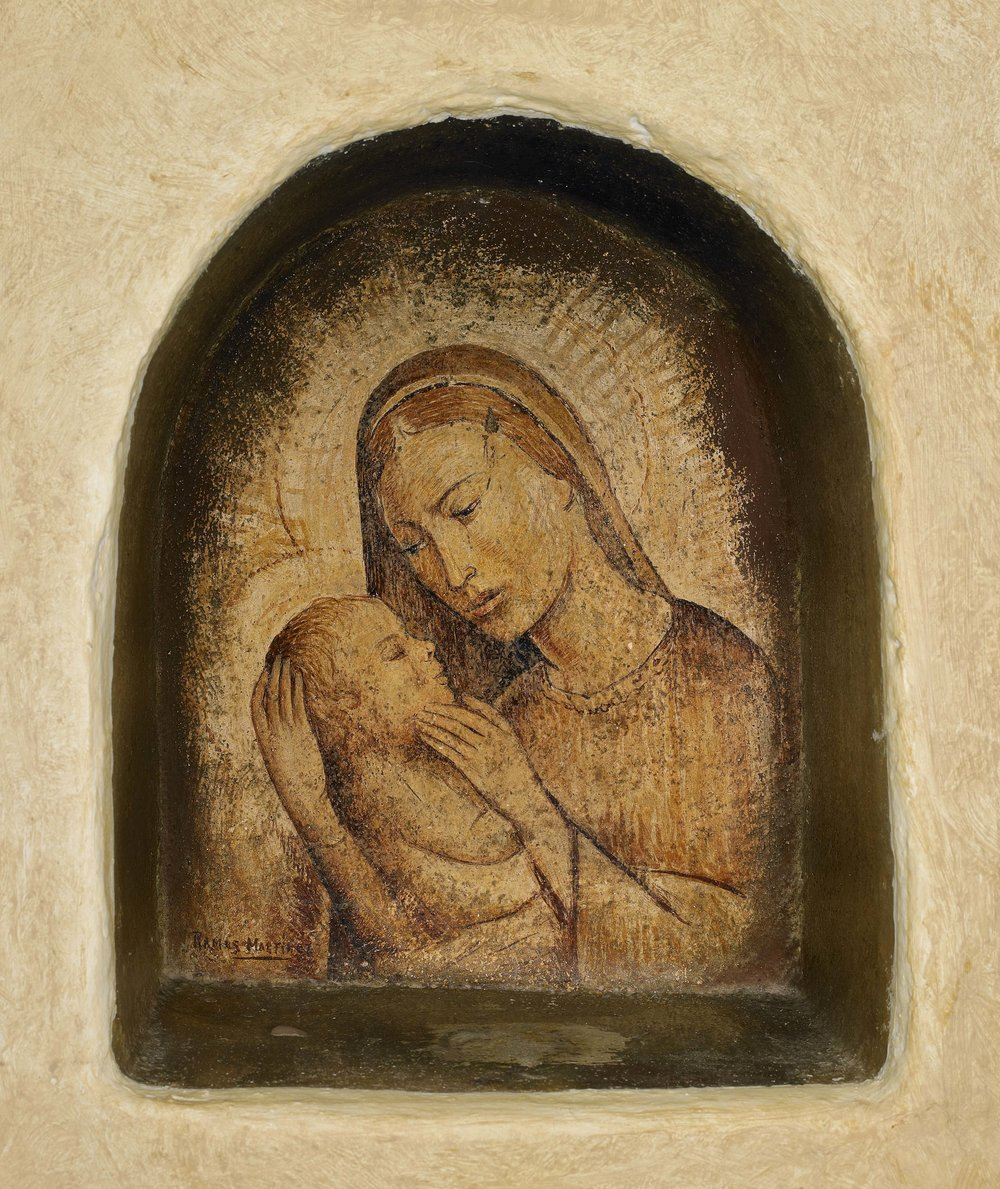 Virgen y Niño / Madonna and Child  ca. 1934 fresco 10.5 x 10.3 inches; 26.7 x 26 centímetros Private collection