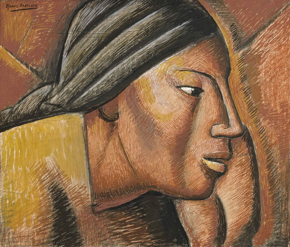 Estudio de Mujer Indígena / Study of an Indian Woman  ca. 1935 tempera and charcoal on paper / temple y carbón sobre papel 16.8 x 19.9 inches; 42.6 x 50.5 centímetros Private collection