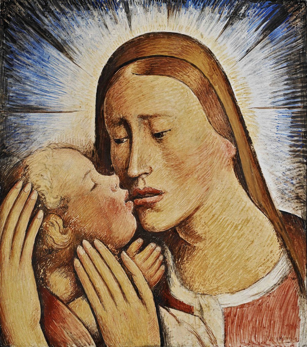 Virgen y Niño / Madonna and Child  ca. 1935 fresco 17 x 15.7 inches; 43.2 x 39.7 centímetros Private collection