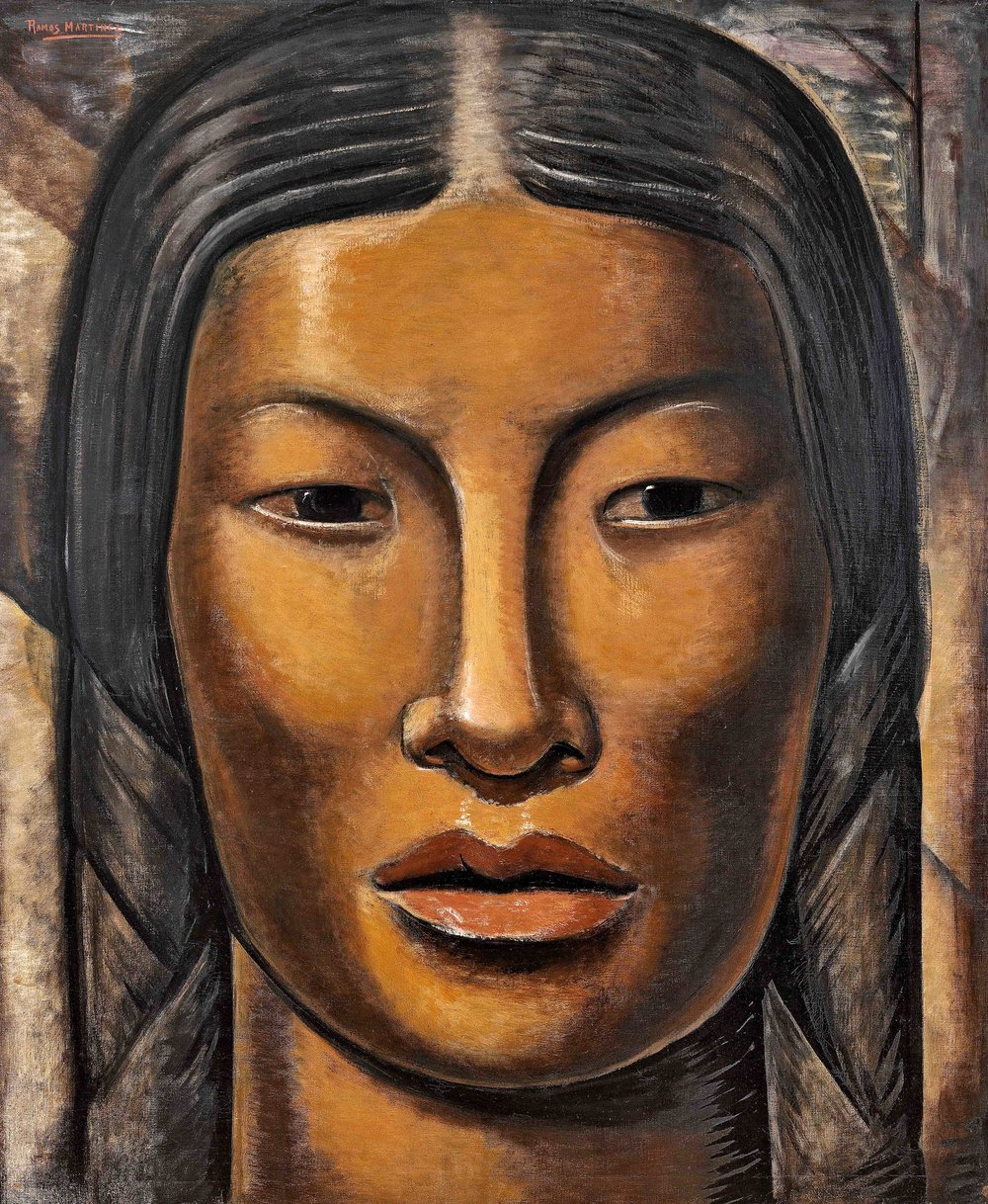 La India Maya / The Mayan Indian Woman  ca. 1936 oil on canvas / óleo sobre tela 44 x 36 inches; 111.8 x 91.4 centímetros Private collection