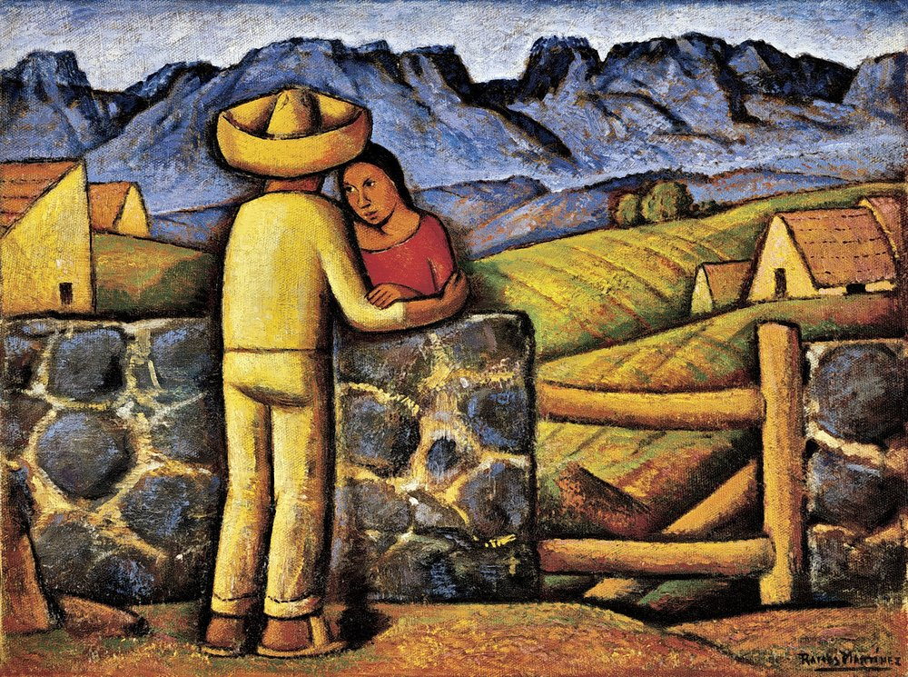 Los Novios / The Sweethearts  ca. 1941 oil on canvas / óleo sobre tela 15 x 20 inches; 38.1 x 50.8 centímetros San Diego Museum of Art