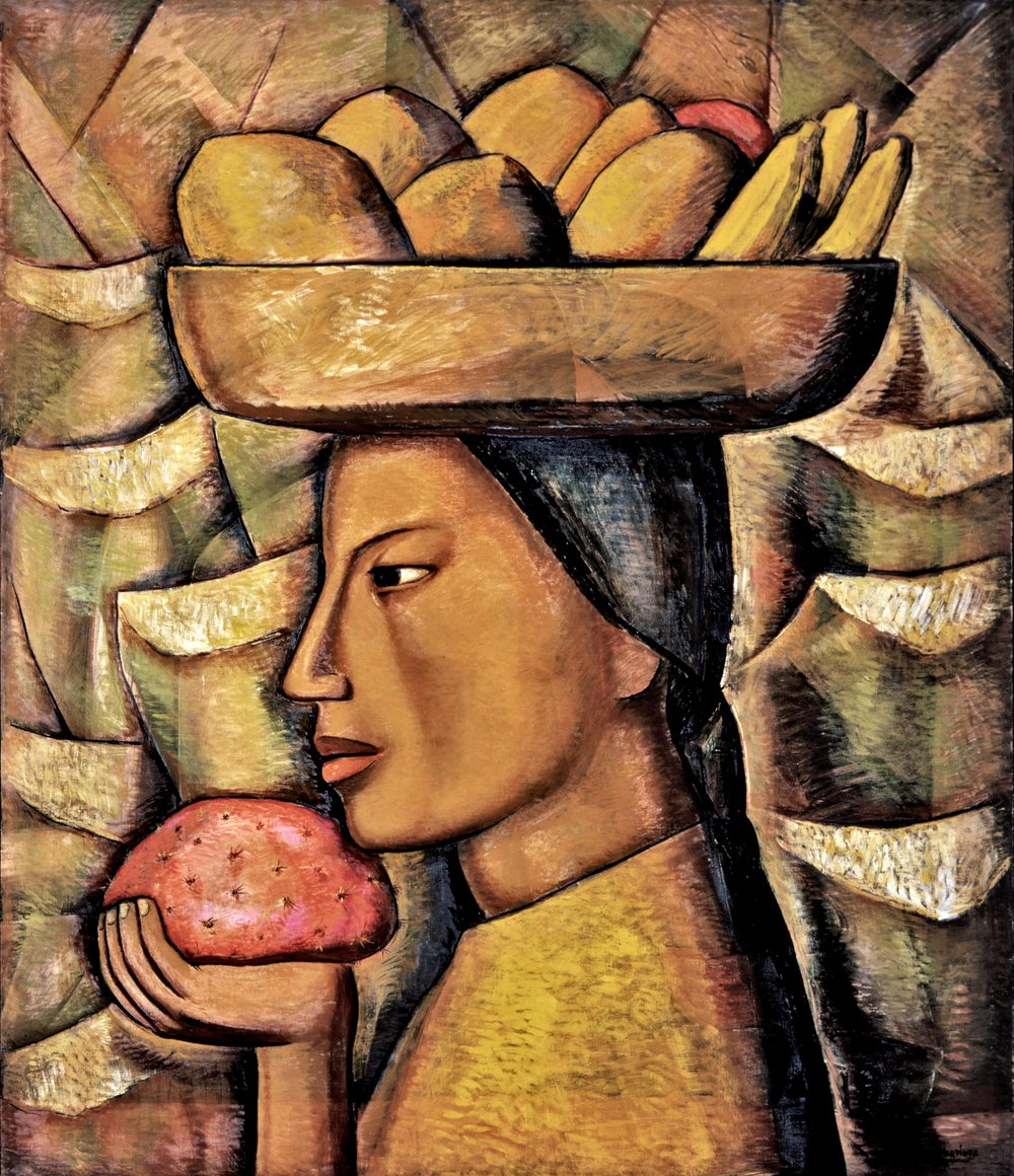 La India de las Tunas / Indian Woman with Prickly Pears  ca. 1932 oil on canvas / óleo sobre tela 50 x 42.3 inches; 127 x 107.3 centímetros Private collection