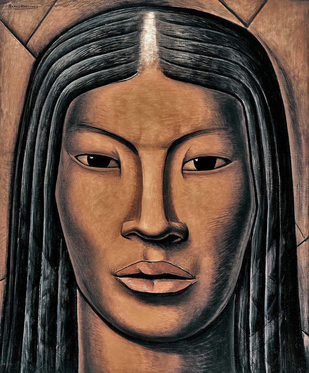 La Malinche  ca. 1930 oil on canvas / óleo sobre tela 46 x 38 inches; 116.84 x 96.5 centímetros