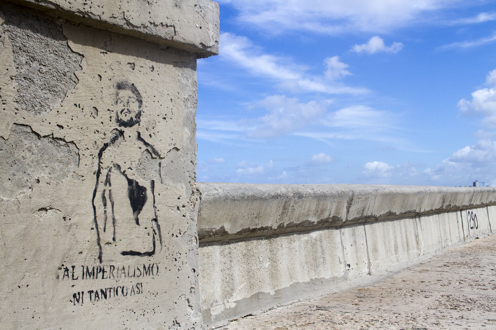 Graffiti on the Malecón
