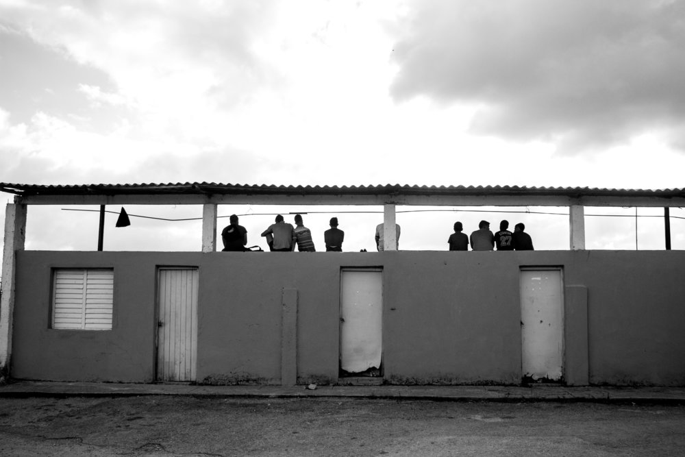Spectators at the local baseball diamond in Viñales