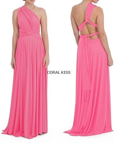 Wrap multi way dress. Size 1 (size 4-16) colour: coral kiss. RRP $300 ⚡️ SALE $99 #flashsale #multiwaydress