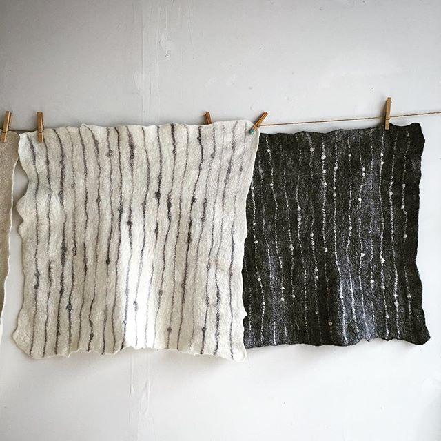 Fog & Fury. hanging felt pelts