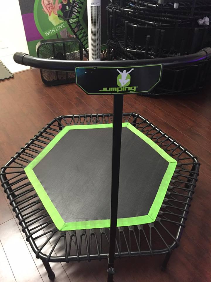 This is what each trampoline looks like!