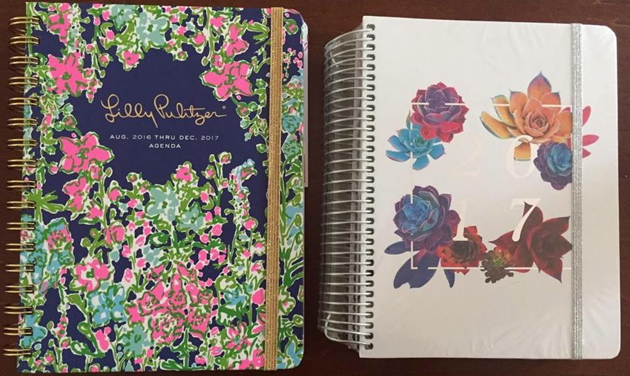 My new planner for 2017:  http://www.papersource.com/item/Lilly-Pulitzer-Southern-Charm-Planner-2016-2017/3204_014/825466938212.html      My new Fitness Journal for 2017:    https://www.popflexactive.com/collections/accessories/products/2017-blogilates-fit-planner